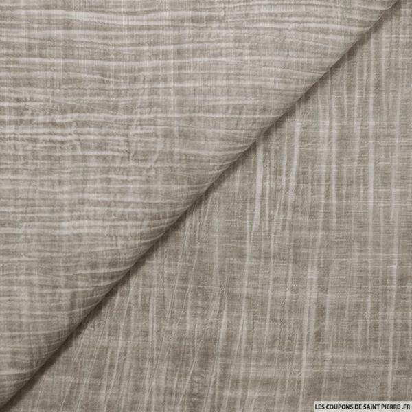 Voile de viscose imprimée tie and dye gris