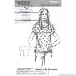 Patron top Modes & Travaux - OFFERT
