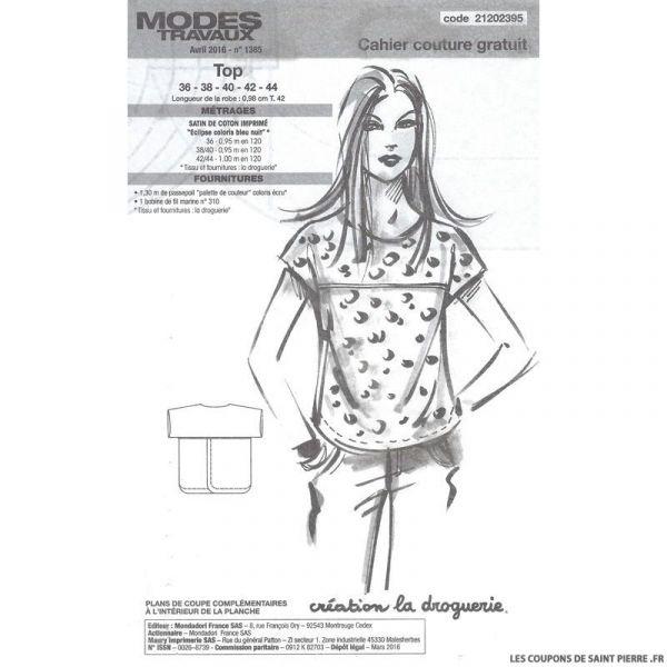 Patron robe Modes & Travaux - OFFERT