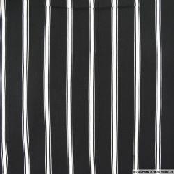 Viscose imprimée double rayure fond noir