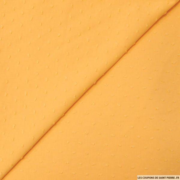 Voile de coton Plumetis curry