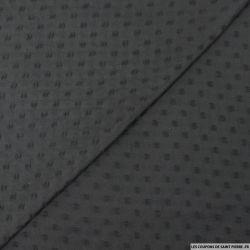 Mousseline de polyester plumetis noir