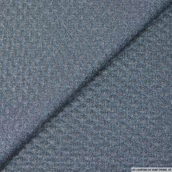 Jersey polyester matelassé effet jean's chiné