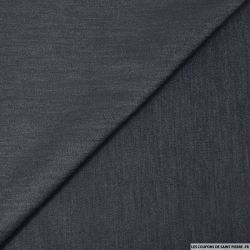 Satin de polycoton élasthane effet jeans marine