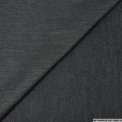 Satin de polycoton élasthane effet jeans noir