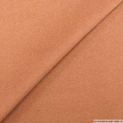 Bord côte lurex cuivre caramel