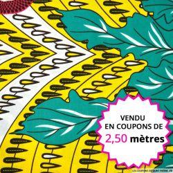 Wax africain soleil aquatique, vendu en coupon de 2,50 mètres
