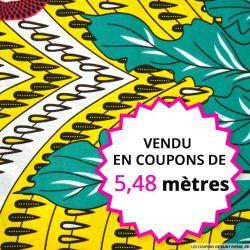 Wax africain soleil aquatique, vendu en coupon de 5,48 mètres