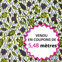 Wax africain buisson magique, vendu en coupon de 5,48 mètres