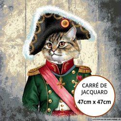 Jacquard chat napoleon - 47cm x 47cm
