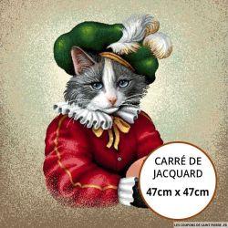 Jacquard chat peintre - 47cm x 47cm
