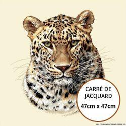 Jacquard guepard - 47cm x 47cm