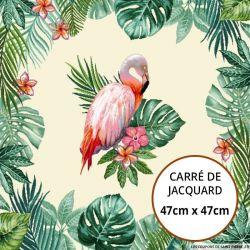 Jacquard perruche tropicale - 47cm x 47cm