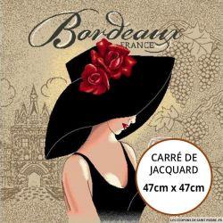 Jacquard Femme Bordeaux - 47cm x 47cm