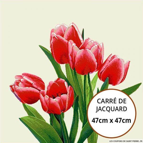 Jacquard tulipe - 47cm x 47cm