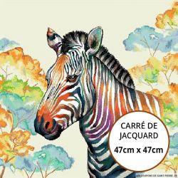 Jacquard zebre - 47cm x 47cm
