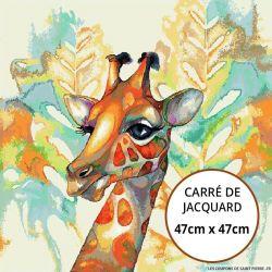 Jacquard girafe - 47cm x 47cm