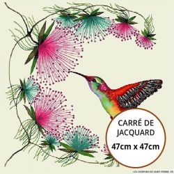 Jacquard colibris - 47cm x 47cm