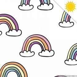 Jersey de coton couleur magique arc-en-ciel vendu au mètre