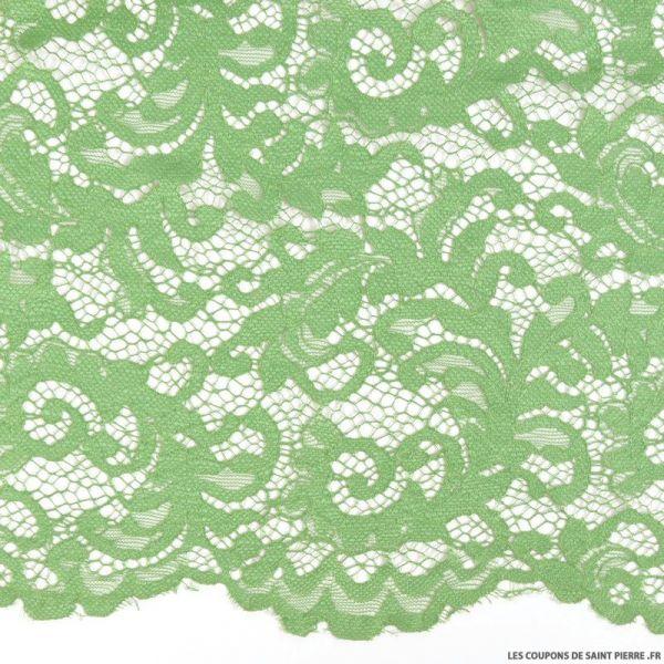 Dentelle festonnée vert pomme