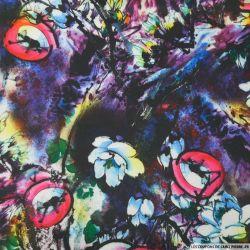 Maille Milano imprimé abstrait