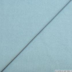 Molleton coton bleu azur
