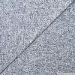 Jersey coton fin bleu chiné
