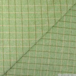 Bourrette de soie à carreaux vert
