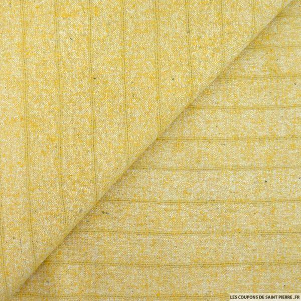 Bourrette de soie rayé blé