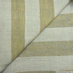 Bourrette de soie rayé beige et écru