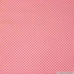 Coton imprimé pois rose