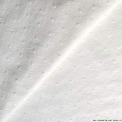Tissu Voile de coton plumetis blanc cassé