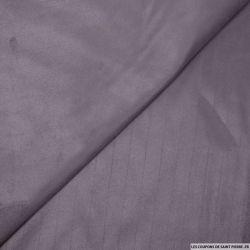 Chamoisine polyester rayé violet