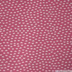 Coton imprimé demi cercle rose