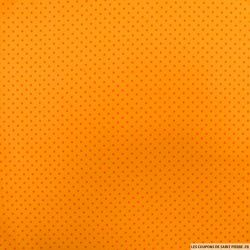 Coton imprimé pois orange