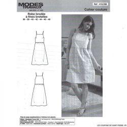 Patron n°418 558 Modes & Travaux - Robe brodée à fines bretelles