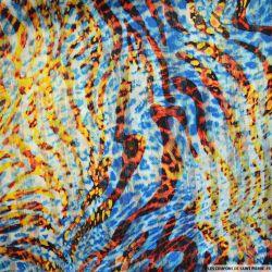 Mousseline dévorée rayures dorés sauvages