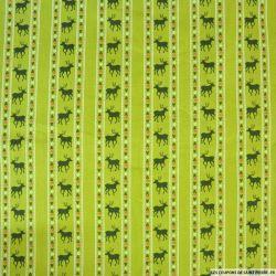 Coton imprimé scandinave fond vert clair