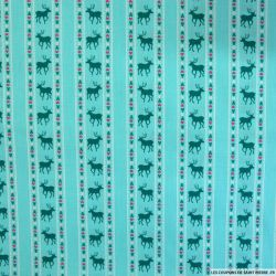 Coton imprimé scandinave fond opaline