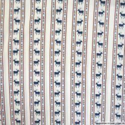 Coton imprimé scandinave fond blanc