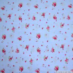 Coton imprimé champêtre fond ciel