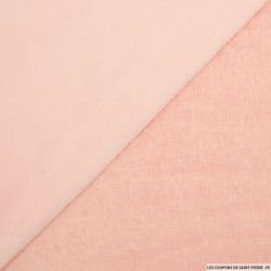 Tissu éponge bambou blush vendu au mètre