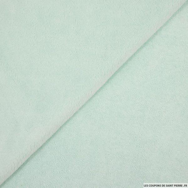 Tissu éponge bambou céladon vendu au mètre