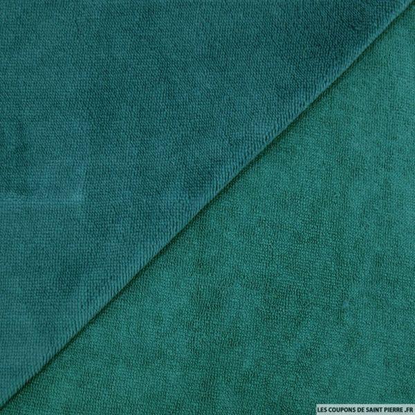Tissu éponge bambou paon vendu au mètre