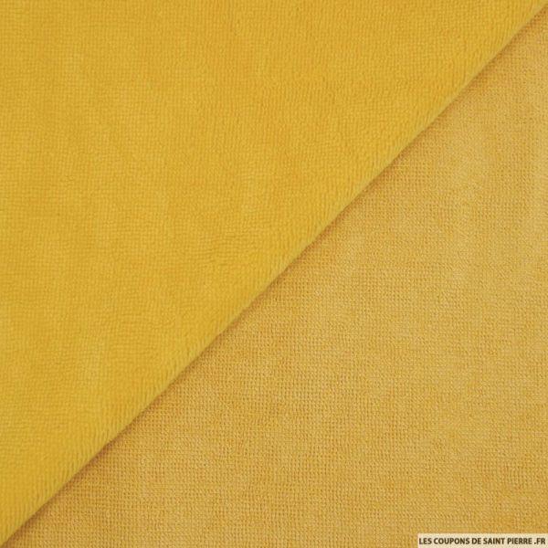 Tissu éponge bambou moutarde vendu au mètre