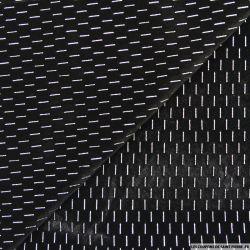 Jersey velours noir trait argent