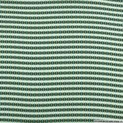 Microfibre imprimé rayures graphique vert