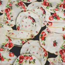 Crêpe de chine imprimé soie porcelaine