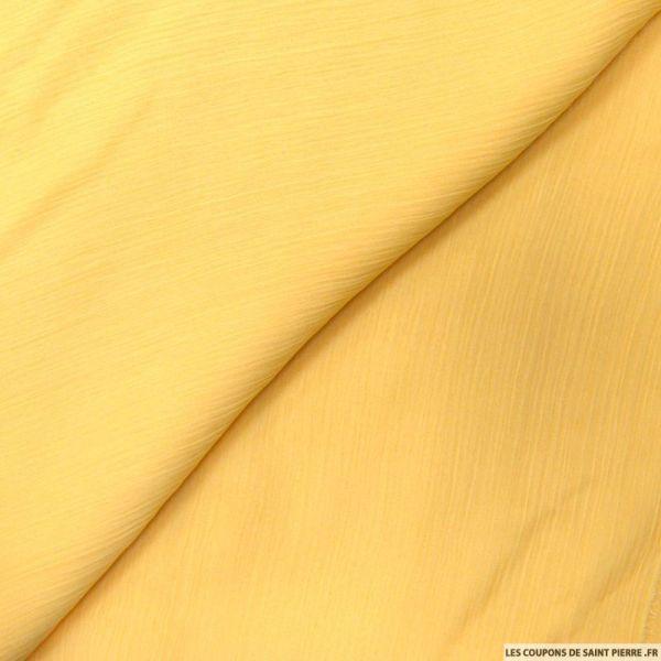 Mousseline crinkle moutarde