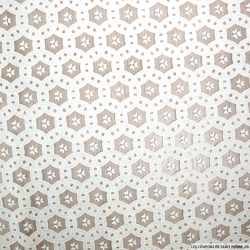 Tulle polycoton fantaisie cercle entrelasé blanc